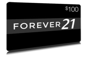 $100 FOREVER 21 Gift Card